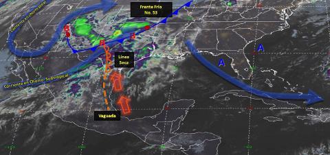 Pronóstico del tiempo en México para martes 23 de abril del 2019