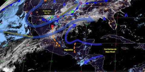 Pronóstico del tiempo en México para miércoles 24 de abril del 2019