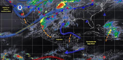 Pronóstico del tiempo en México para martes 30 de abril del 2019