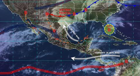 Pronóstico del tiempo en México para viernes 3 de mayo del 2019