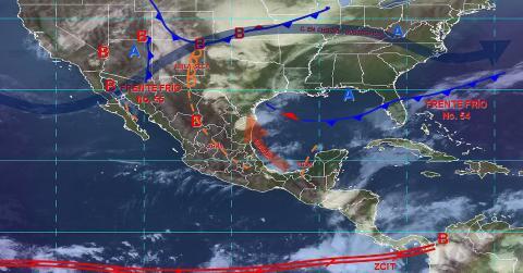 Pronóstico del tiempo en México para martes 7 de mayo del 2019