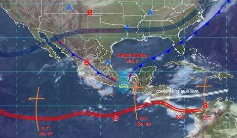 Pronóstico del tiempo en México para viernes 1 de noviembre del 2019