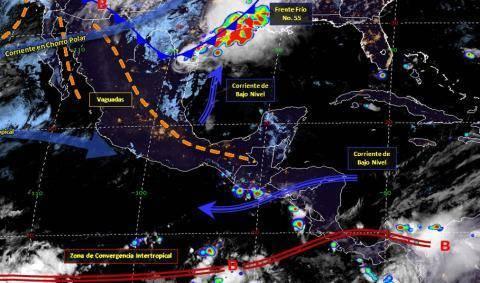 Pronóstico del tiempo en México para viernes 10 de mayo del 2019