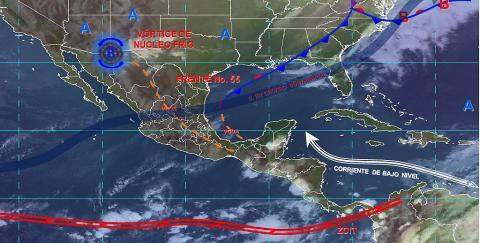 Pronóstico del tiempo en México para lunes 13 de mayo del 2019