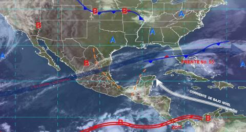 Pronóstico del tiempo en México para miércoles 15 de mayo del 2019