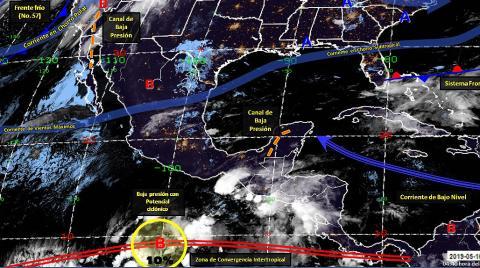 Pronóstico del tiempo en México para jueves 16 de mayo del 2019
