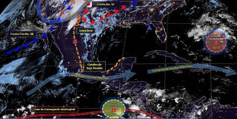 Pronóstico del tiempo en México para lunes 20 de mayo del 2019