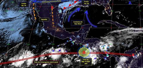 Pronóstico del tiempo en México para miércoles 22 de mayo del 2019