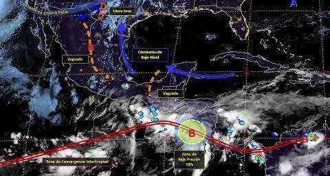 Pronóstico del tiempo en México para viernes 24 de mayo del 2019