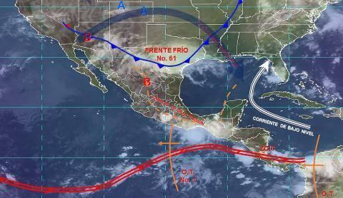 Pronóstico del tiempo en México para lunes 10 de junio del 2019