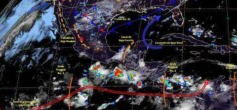 Pronóstico del tiempo en México para martes 11 de junio