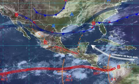 Pronóstico del tiempo en México para miércoles 12 de junio del 2019