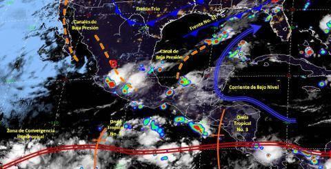 Pronóstico del tiempo en México para jueves 13 de junio del 2019
