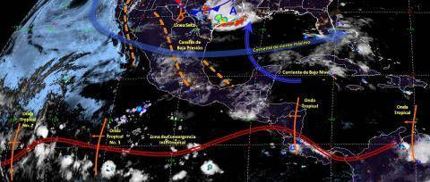 Pronóstico del tiempo en México para lunes 17 de junio del 2019
