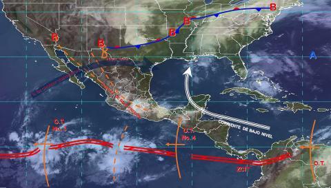 Pronóstico del tiempo en México para martes 18 de junio del 2019