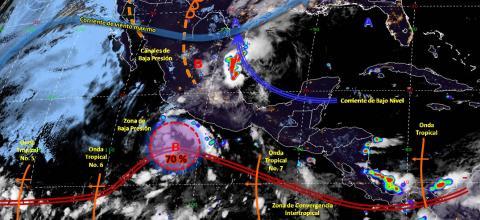 Pronóstico del tiempo en México para martes 25 de junio
