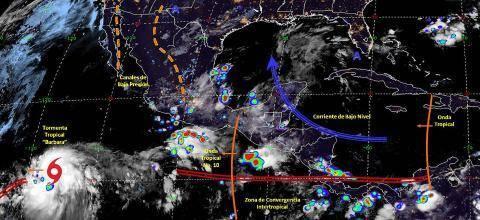 Pronóstico del tiempo en México para lunes 1 de julio del 2019
