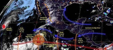 Pronóstico del tiempo en México para viernes 5 de julio del 2019
