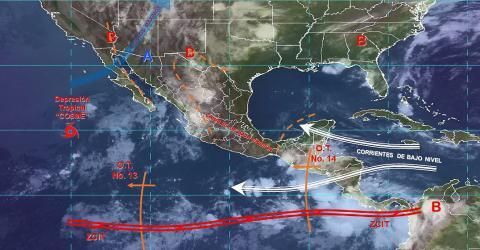 Pronóstico del tiempo en México para lunes 8 de julio del 2019