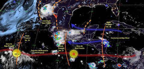 Pronóstico del tiempo en México para miércoles 17 de julio del 2019