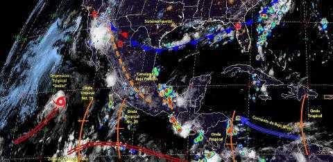 Pronóstico del tiempo en México para miércoles 24 de julio del 2019