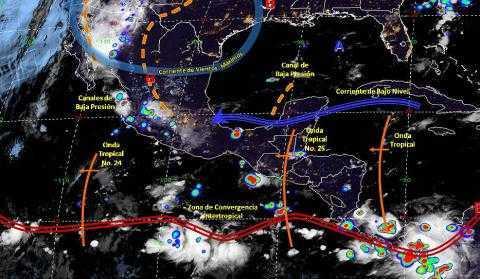 Pronóstico del tiempo en México para martes 6 de agosto del 2019