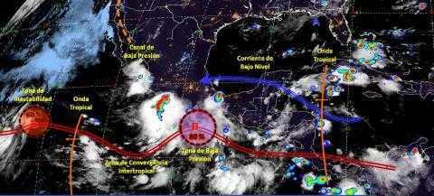 Pronóstico del tiempo en México para miércoles 20 de agosto del 2019