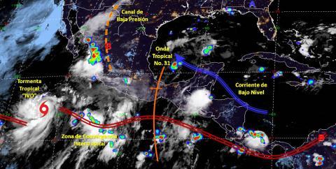 Pronóstico del tiempo en México para jueves 22 de agosto del 2019