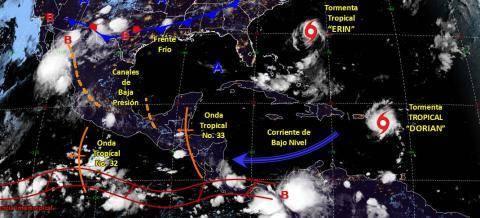Se esperan lluvias puntuales para Tlaxcala el dia de hoy