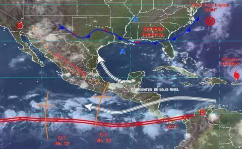 Pronóstico del tiempo en México para jueves 29 de agosto del 2019