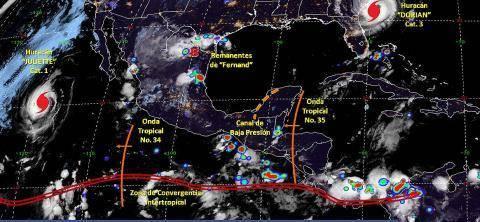 Pronóstico del tiempo en México para jueves 5 de septiembre del 2019