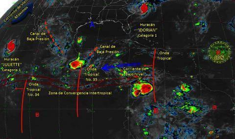 Pronóstico del tiempo en México para viernes 6 de septiembre del 2019