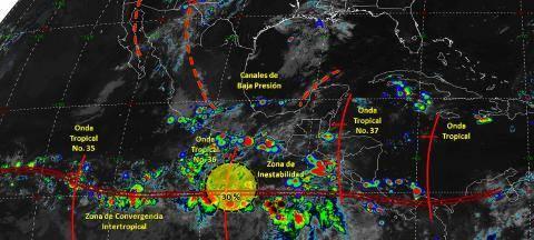 Pronóstico del tiempo en México para lunes 9 de septiembre del 2019