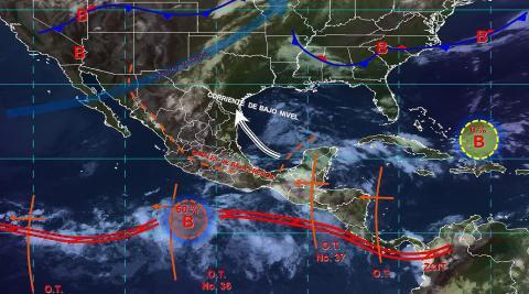 Pronóstico del tiempo en México para martes 10 de septiembre del 2019