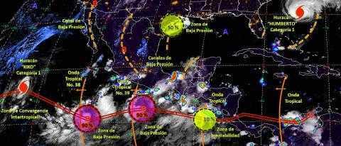 Pronóstico del tiempo en México para martes 17 de septiembre del 2019