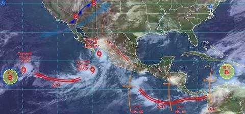 Pronóstico del tiempo en México para viernes 20 de septiembre del 2019