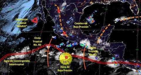 Pronóstico del tiempo en México para lunes 23 de septiembre del 2019