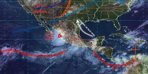 Pronóstico del tiempo en México para lunes 30 de septiembre del 2019