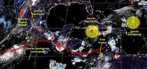 Pronóstico del tiempo en México para martes 1 de octubre del 2019