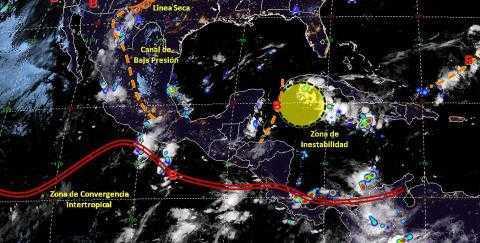 Pronóstico del tiempo en México para jueves 3 de octubre del 2019