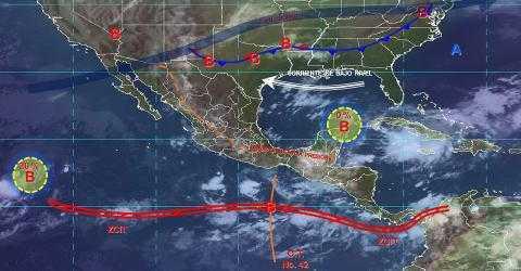 Pronóstico del tiempo en México para viernes 4 de octubre del 2019