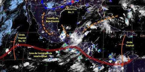 Pronóstico del tiempo en México para lunes 7 de octubre del 2019