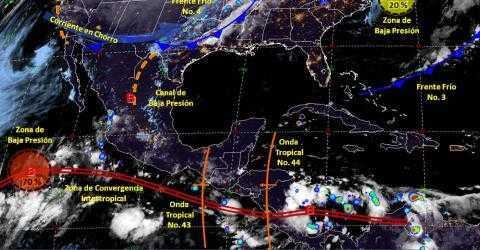Pronóstico del tiempo en México para viernes 11 de octubre del 2019