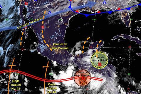 Pronóstico del tiempo en México para martes 15 de octubre del 2019