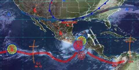 Pronóstico del tiempo en México para miércoles 16 de octubre del 2019