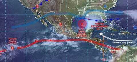 Pronóstico del tiempo en México para viernes 18 de octubre del 2019