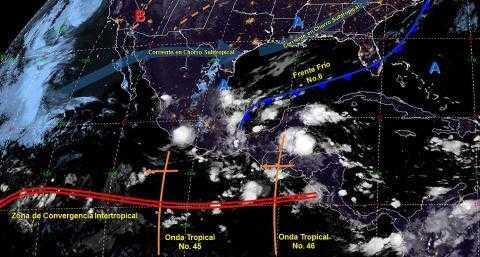 Pronóstico del tiempo en México para miércoles 23 de octubre del 2019