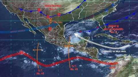 Pronóstico del tiempo en México para jueves 24 de octubre del 2019