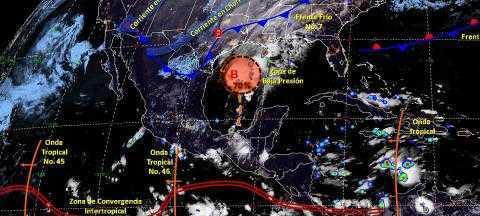Pronóstico del tiempo en México para viernes 25 de octubre del 2019