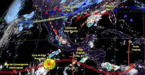 Pronóstico del tiempo en México para martes 29 de octubre del 2019